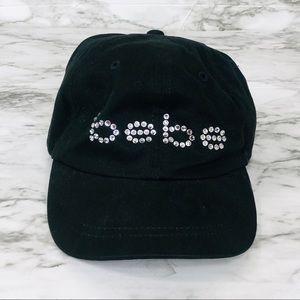 BEBE Black Rhinestone Hat